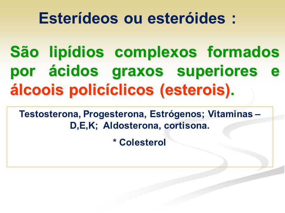 Esterídeos ou esteróides :