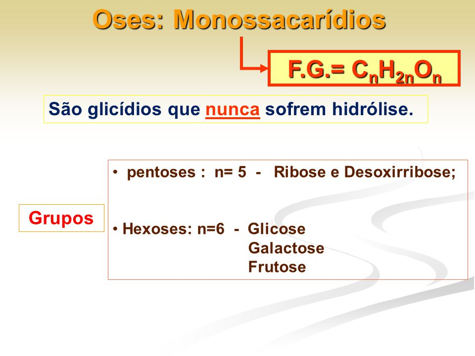 Oses: Monossacarídios