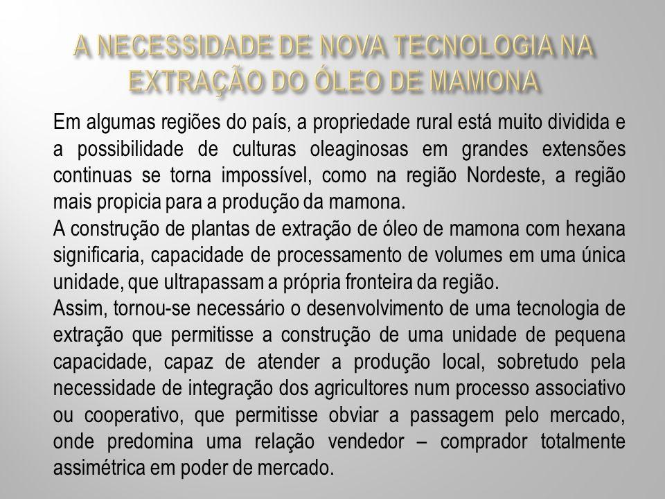 A NECESSIDADE DE NOVA TECNOLOGIA NA EXTRAÇÃO DO ÓLEO DE MAMONA