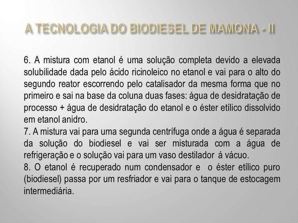 A TECNOLOGIA DO BIODIESEL DE MAMONA - II