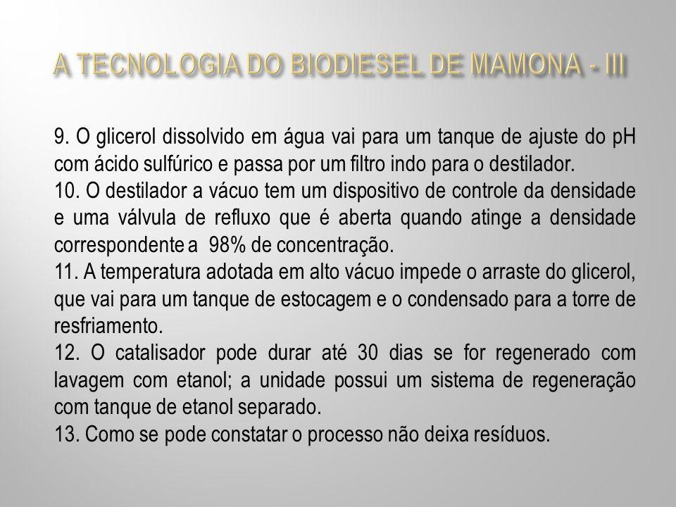 A TECNOLOGIA DO BIODIESEL DE MAMONA - III