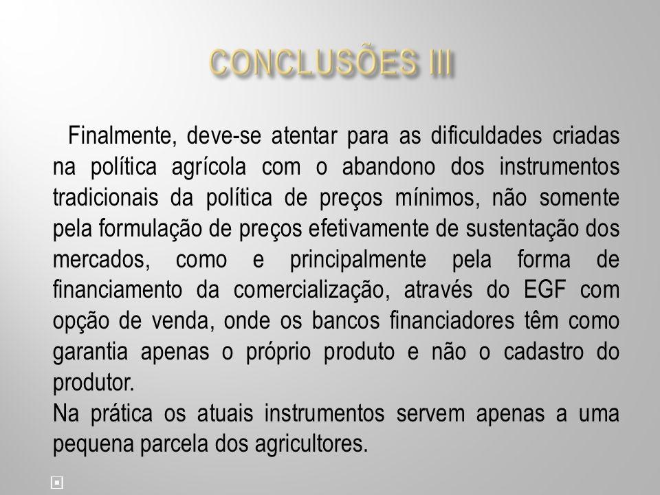 CONCLUSÕES III