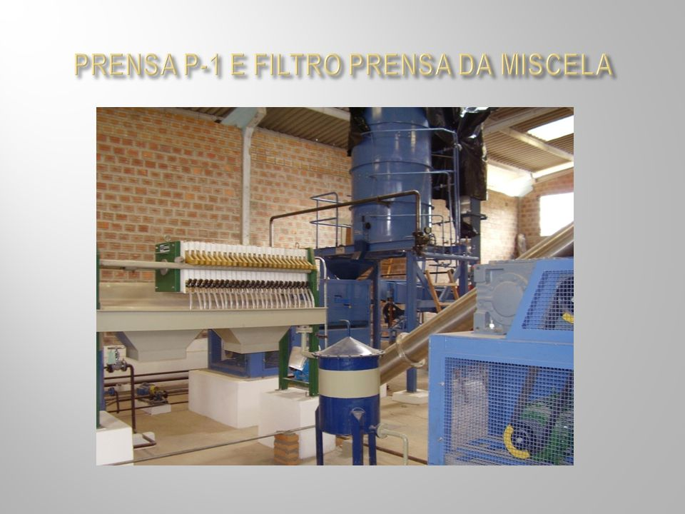 PRENSA P-1 E FILTRO PRENSA DA MISCELA