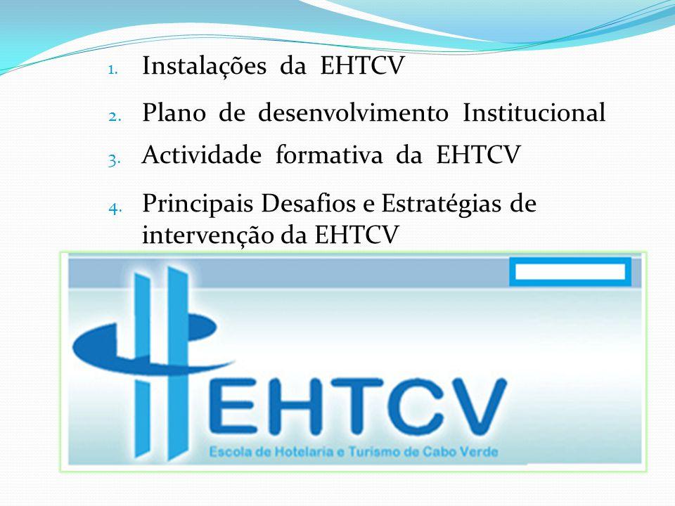 Instalações da EHTCV Plano de desenvolvimento Institucional. Actividade formativa da EHTCV.