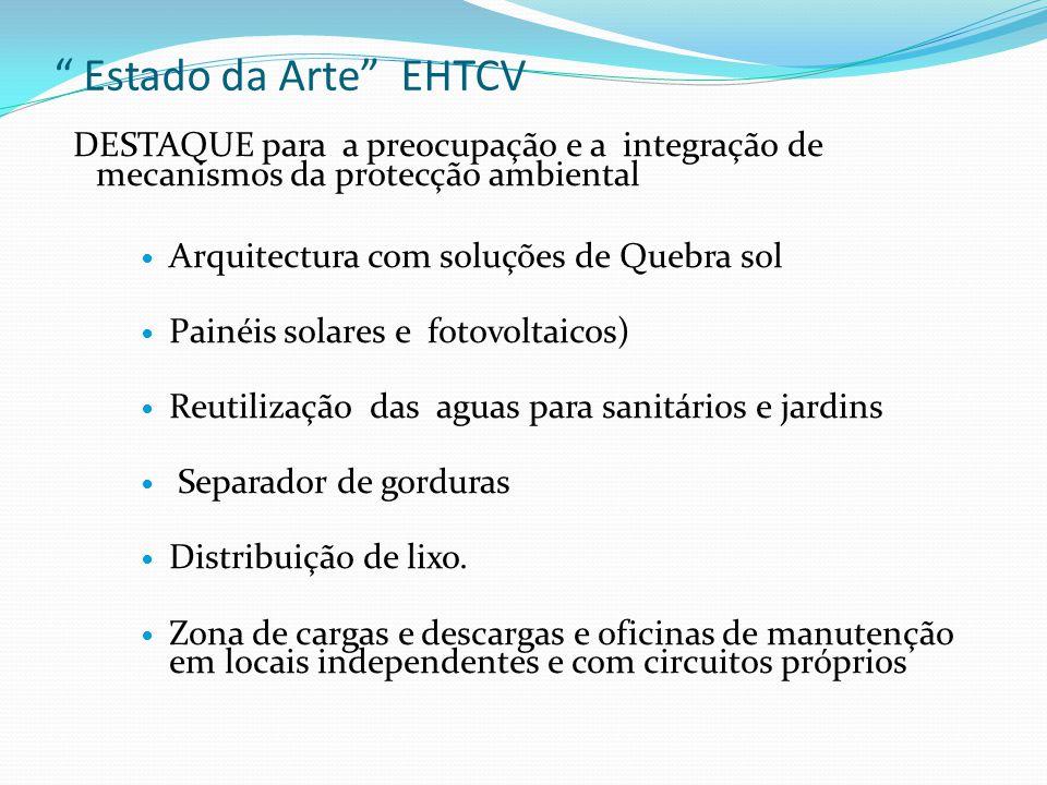 Estado da Arte EHTCV DESTAQUE para a preocupação e a integração de mecanismos da protecção ambiental.