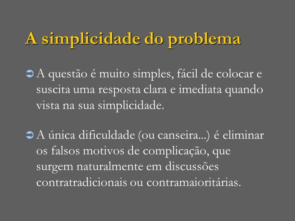 A simplicidade do problema