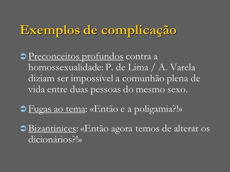 Exemplos de complicação