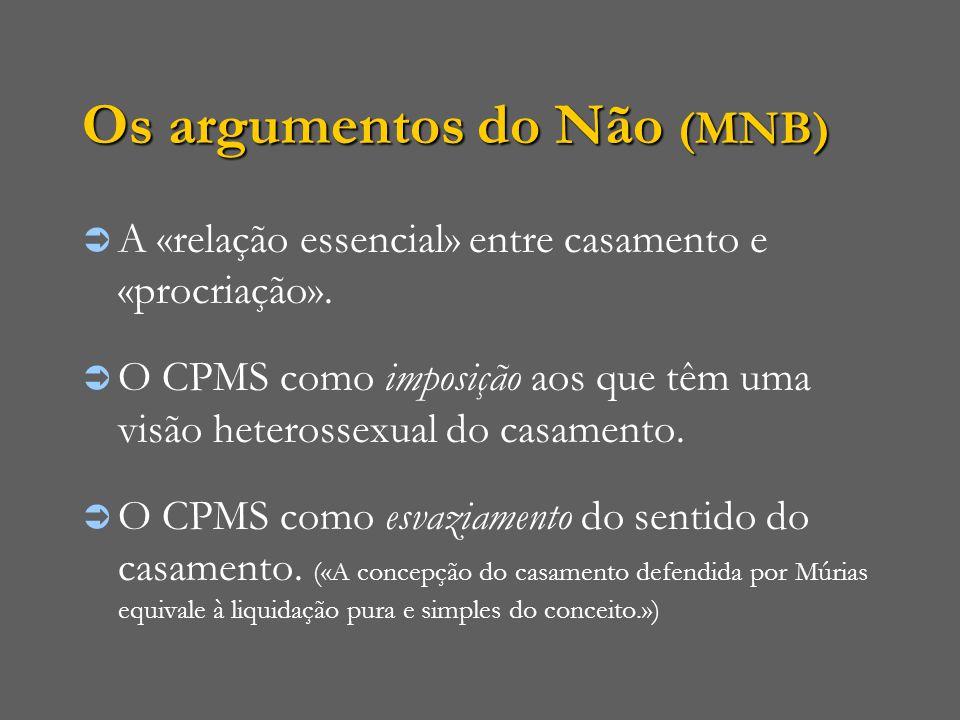 Os argumentos do Não (MNB)