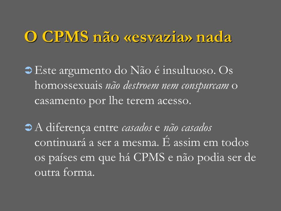 O CPMS não «esvazia» nada