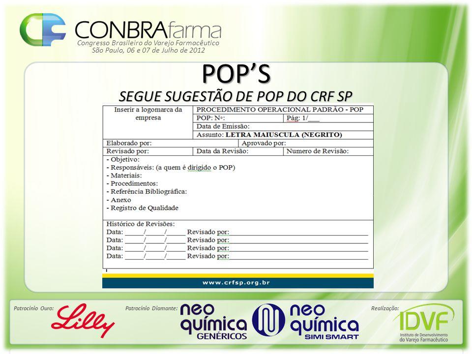 SEGUE SUGESTÃO DE POP DO CRF SP