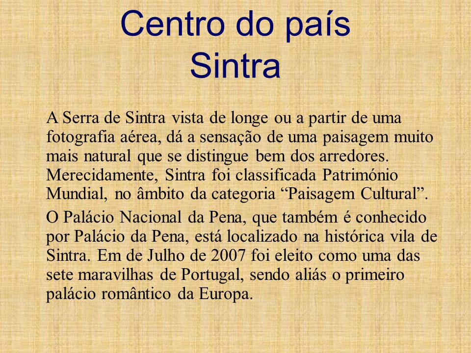 Centro do país Sintra
