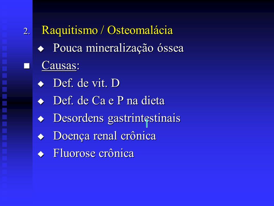 Raquitismo / Osteomalácia