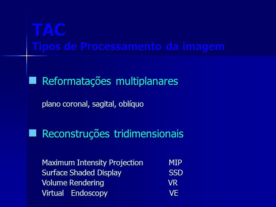 TAC Tipos de Processamento da imagem