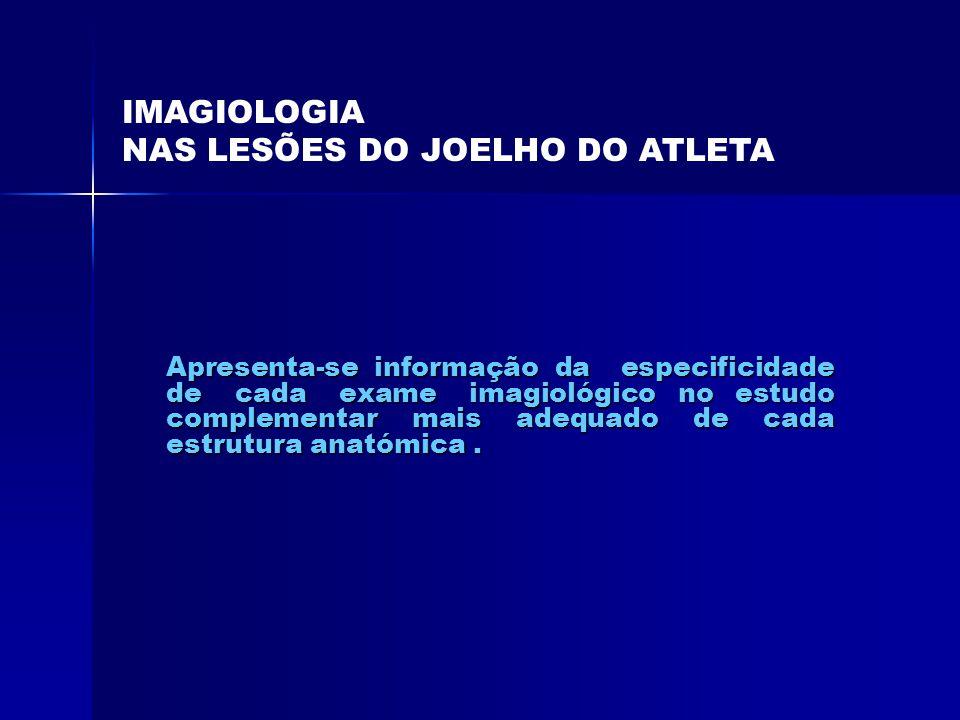 NAS LESÕES DO JOELHO DO ATLETA