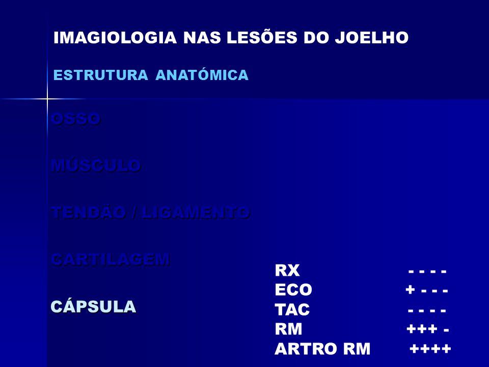 IMAGIOLOGIA NAS LESÕES DO JOELHO