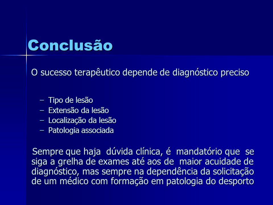 O sucesso terapêutico depende de diagnóstico preciso