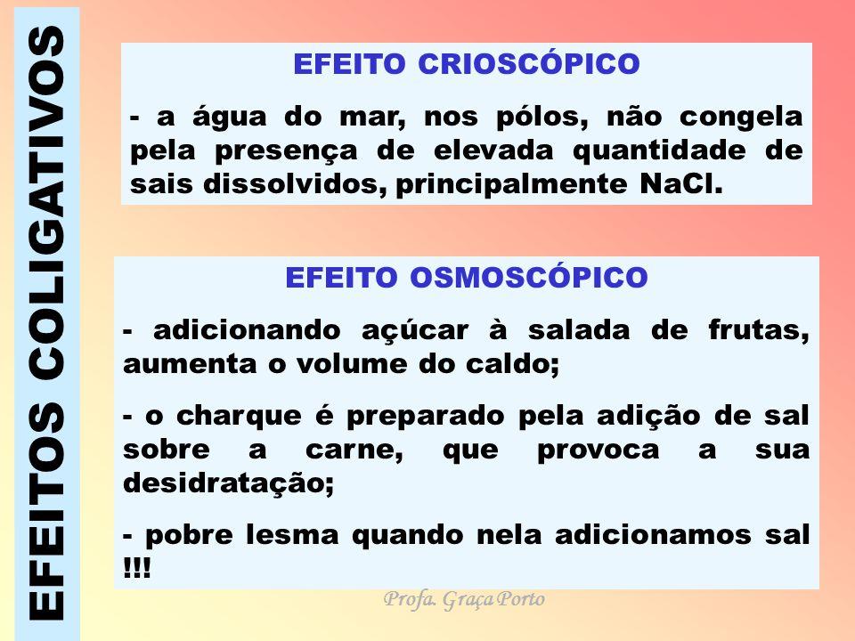 EFEITOS COLIGATIVOS EFEITO CRIOSCÓPICO