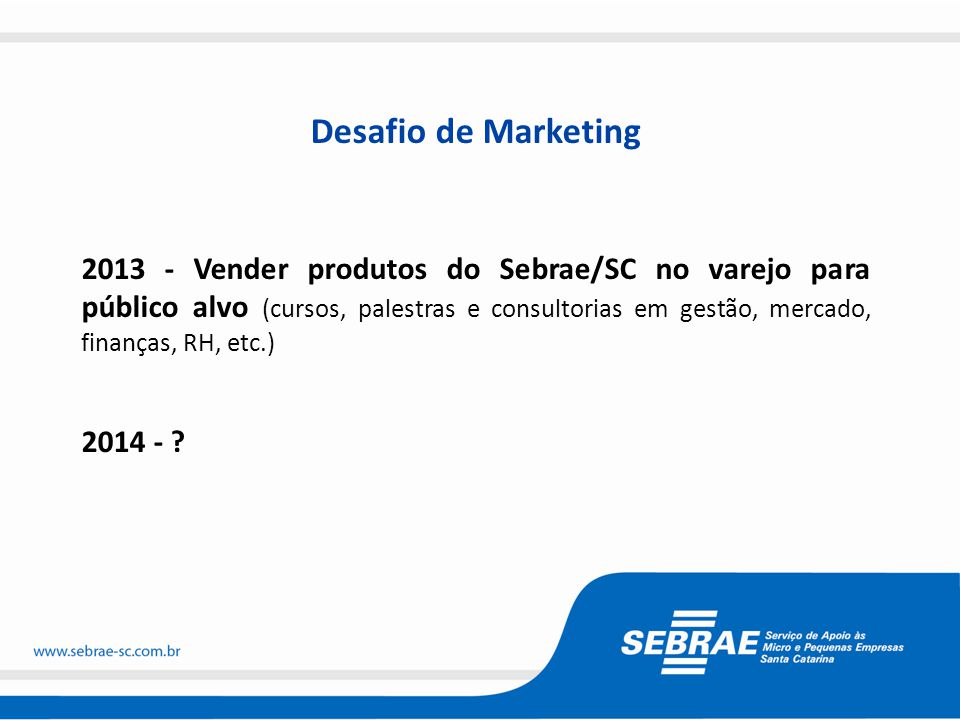 Desafio de Marketing
