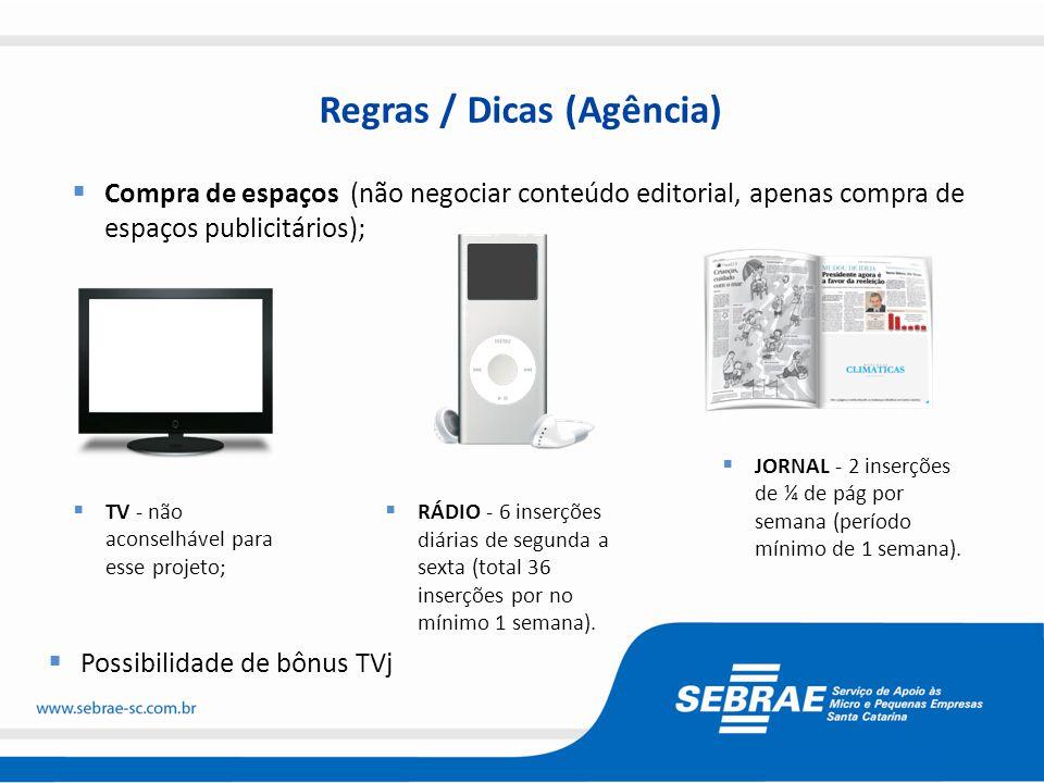 Regras / Dicas (Agência)