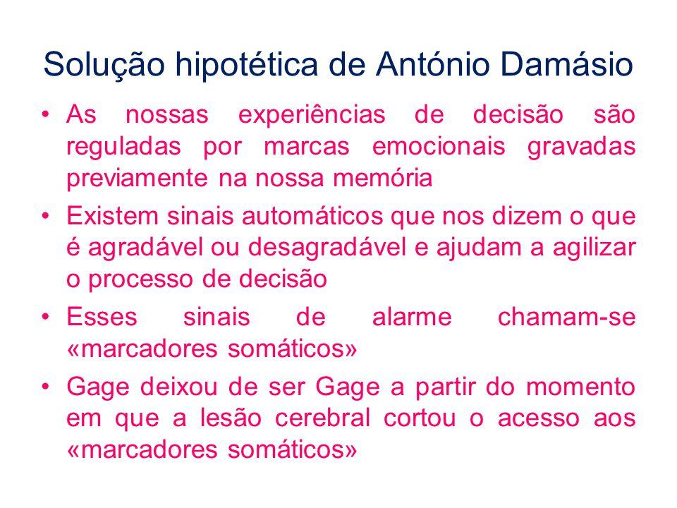 Solução hipotética de António Damásio