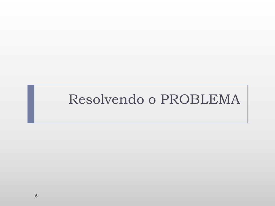 Resolvendo o PROBLEMA