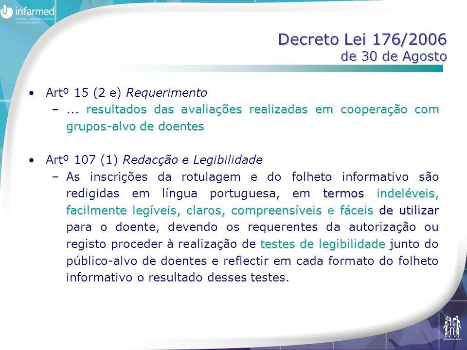 Decreto Lei 176/2006 de 30 de Agosto