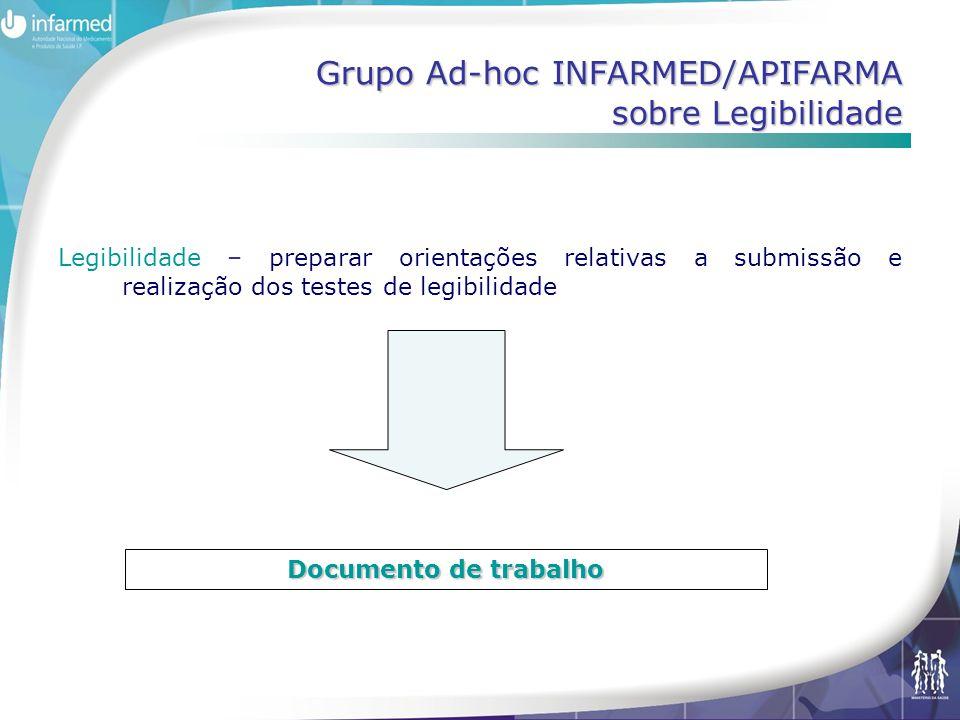 Grupo Ad-hoc INFARMED/APIFARMA sobre Legibilidade