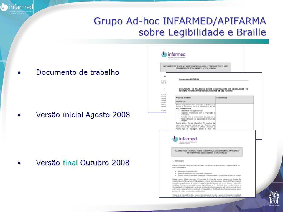 Grupo Ad-hoc INFARMED/APIFARMA sobre Legibilidade e Braille