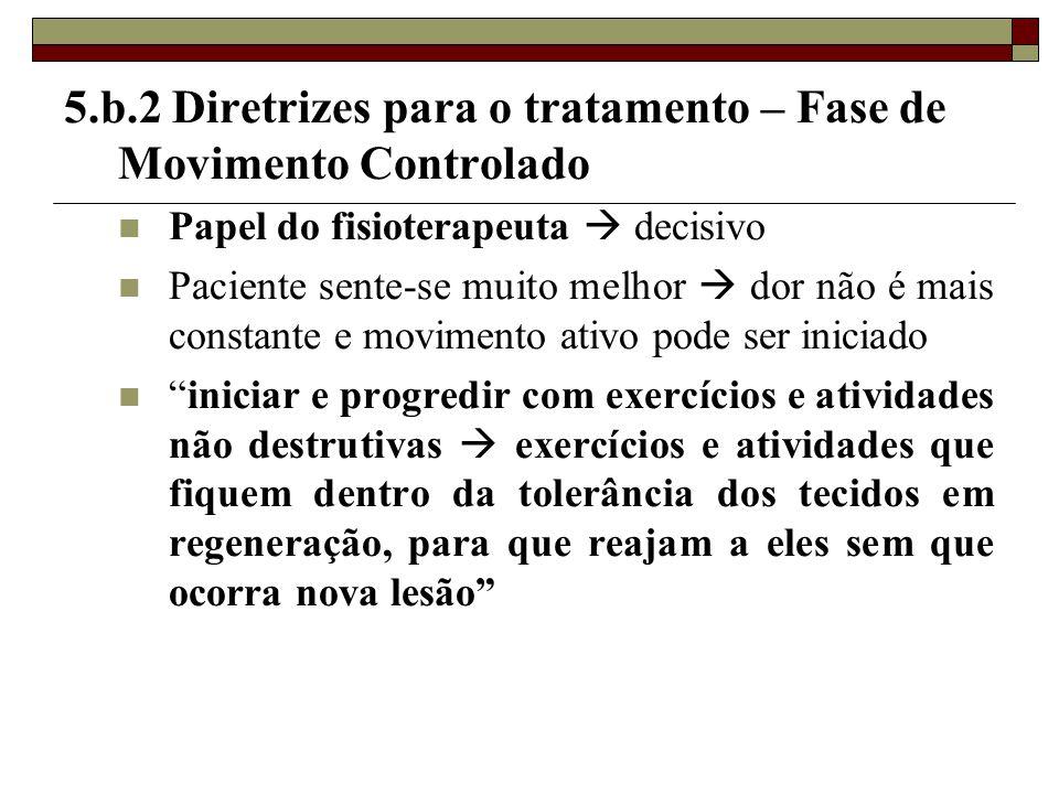 5.b.2 Diretrizes para o tratamento – Fase de Movimento Controlado