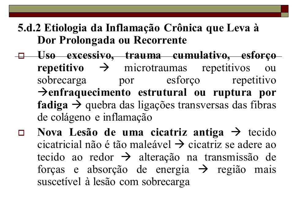 5.d.2 Etiologia da Inflamação Crônica que Leva à Dor Prolongada ou Recorrente