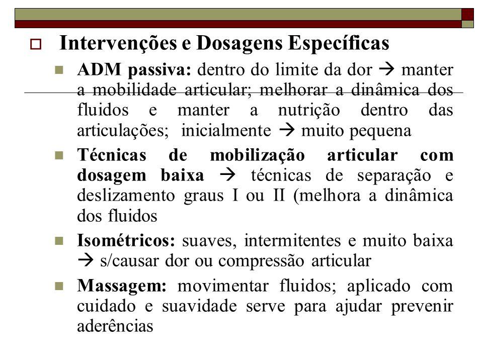 Intervenções e Dosagens Específicas