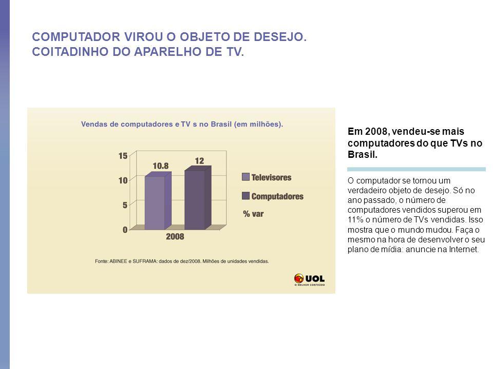 COMPUTADOR VIROU O OBJETO DE DESEJO. COITADINHO DO APARELHO DE TV.