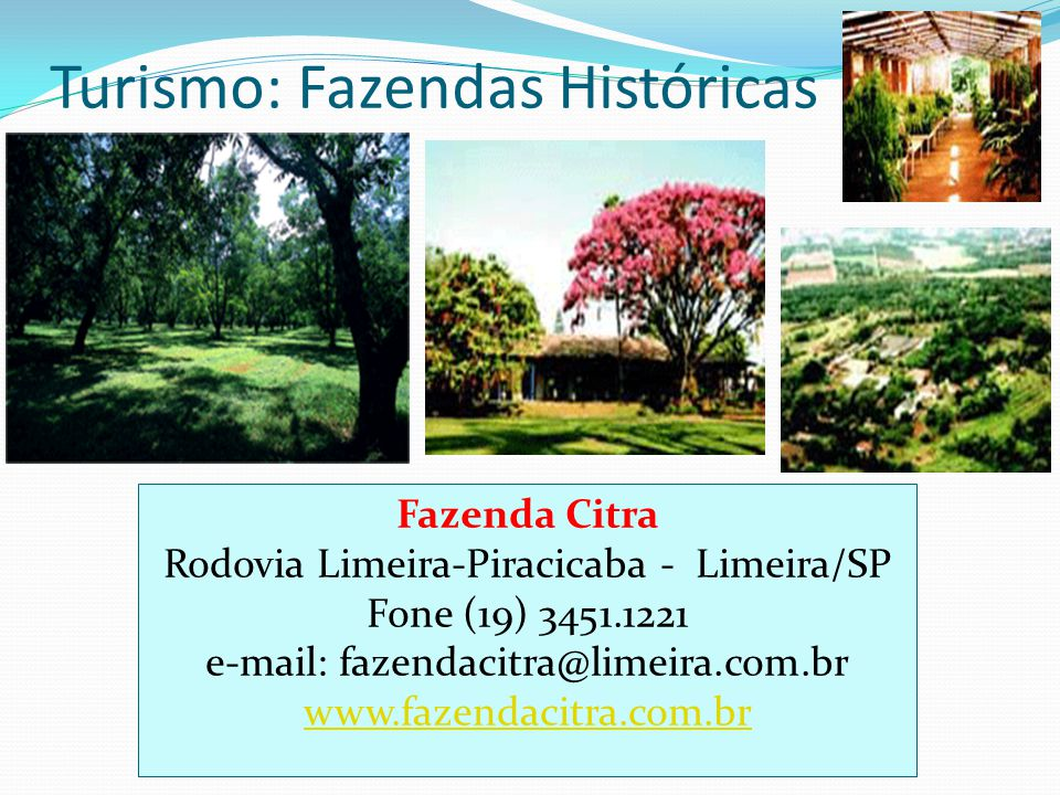 Turismo: Fazendas Históricas