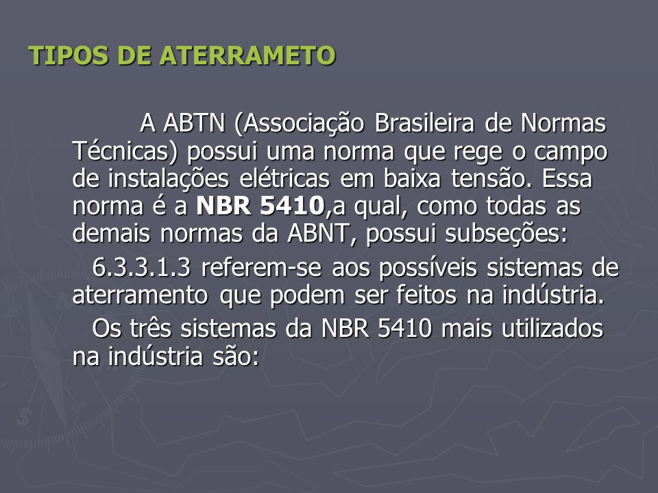 TIPOS DE ATERRAMETO