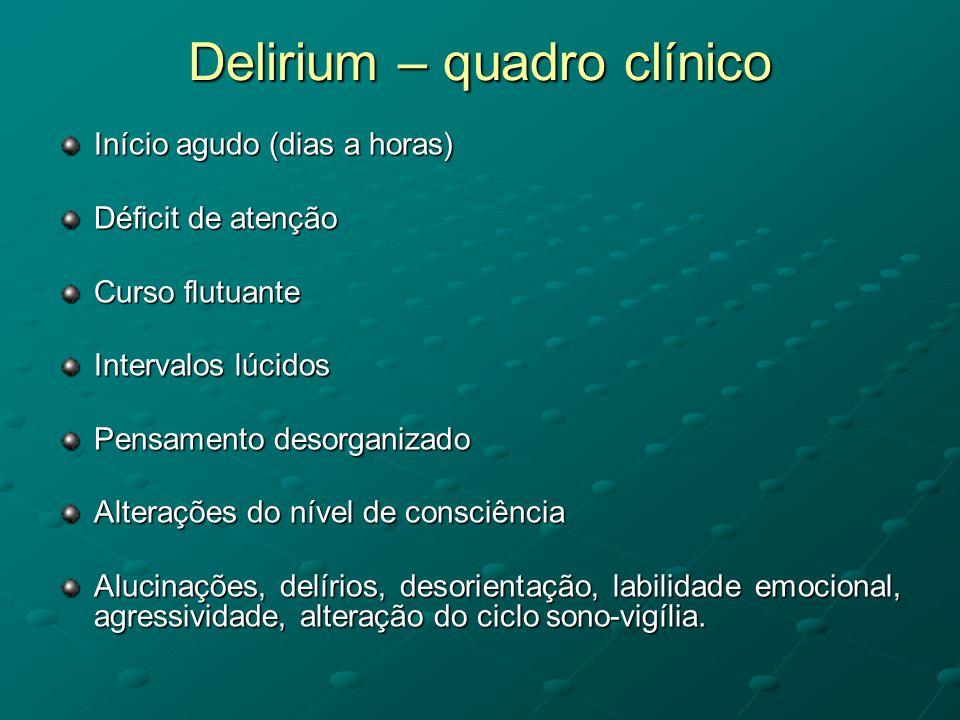Delirium – quadro clínico
