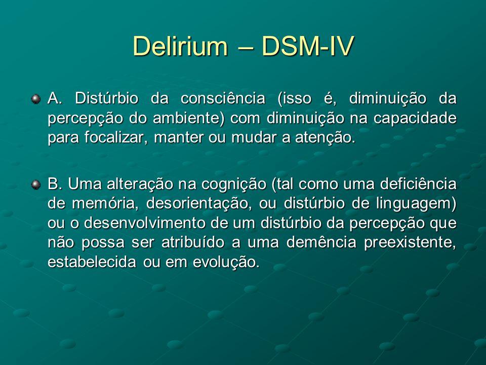 Delirium – DSM-IV