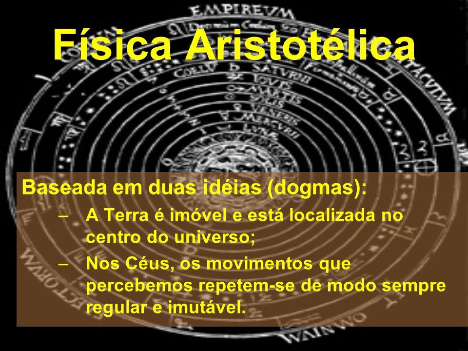 Física Aristotélica Baseada em duas idéias (dogmas):