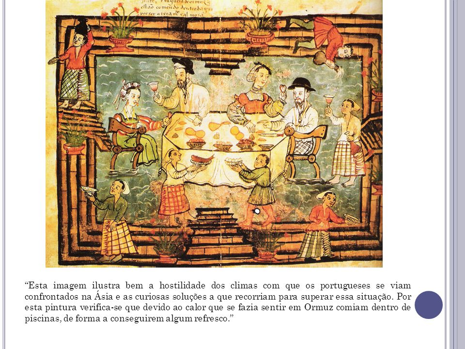 9. «Portugueses em Ormuz», Códice Casanatense, séc. XVI