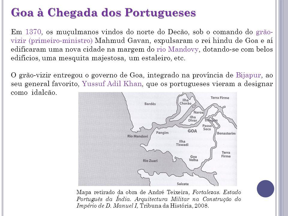 Goa à Chegada dos Portugueses