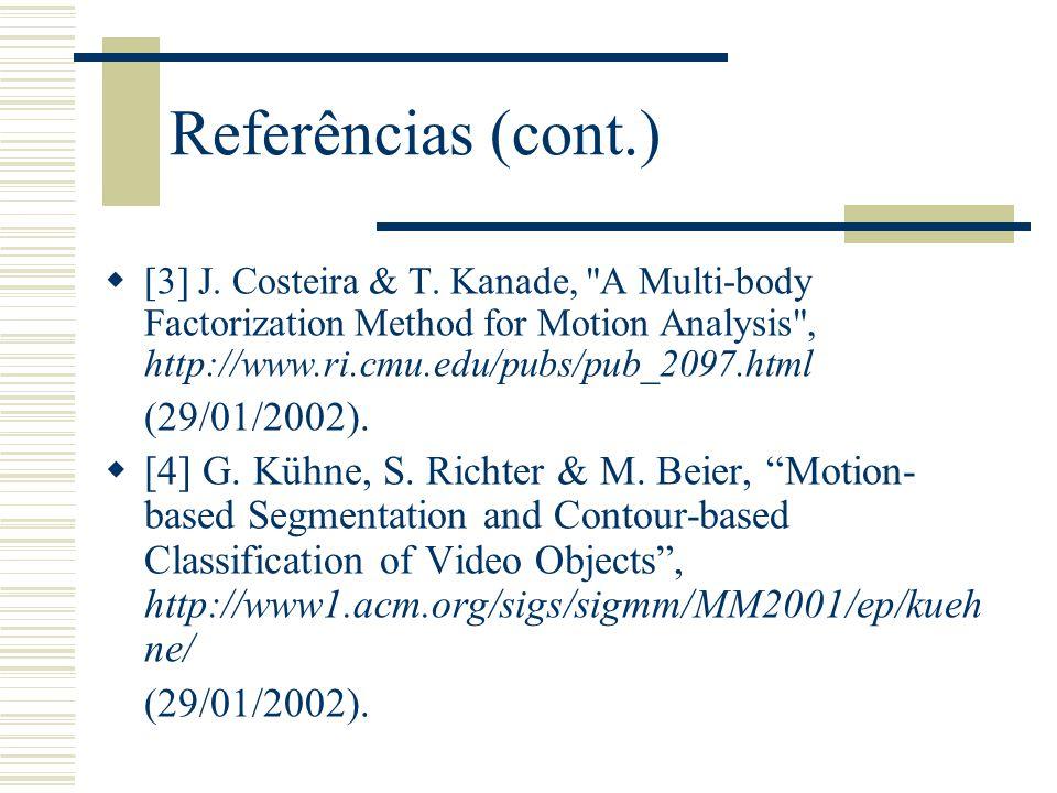 Referências (cont.) (29/01/2002).