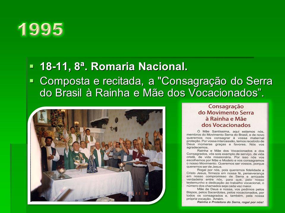 1995 18-11, 8ª. Romaria Nacional.