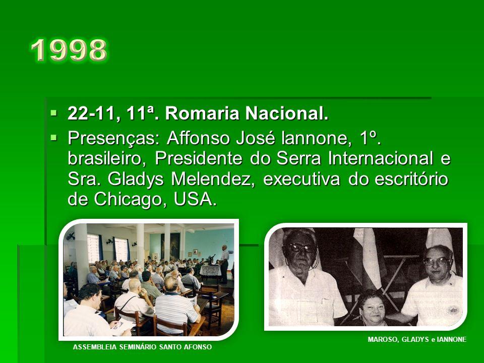 1998 22-11, 11ª. Romaria Nacional.