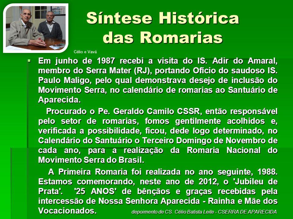 Síntese Histórica das Romarias