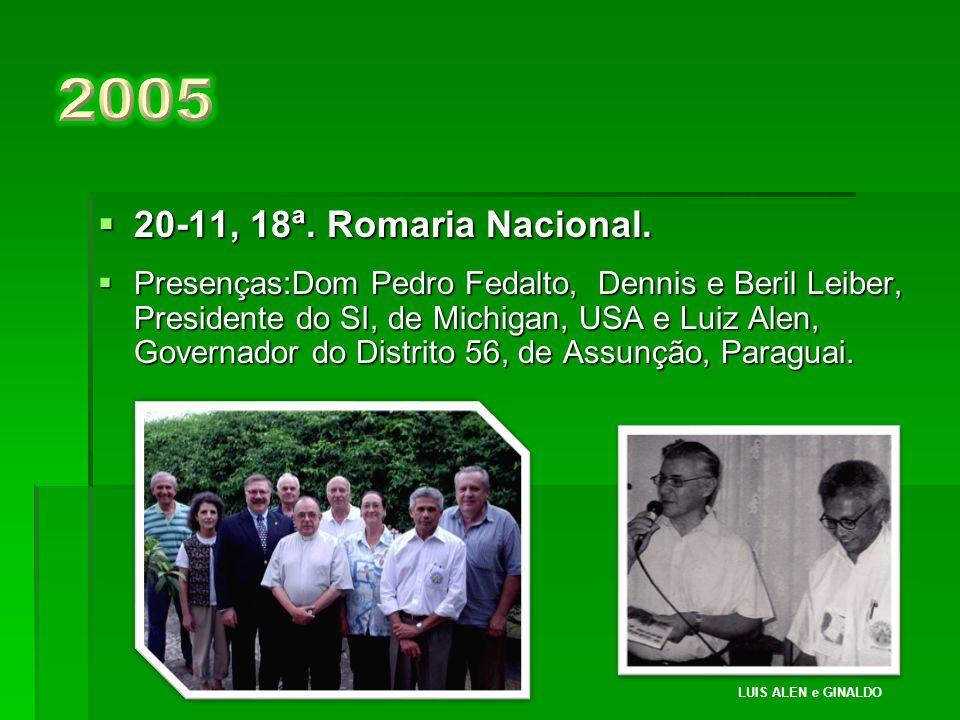 2005 20-11, 18ª. Romaria Nacional.