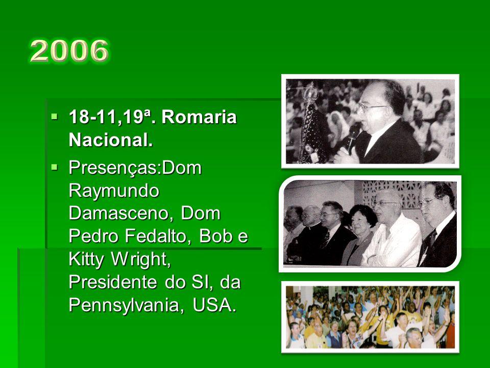 2006 18-11,19ª. Romaria Nacional.