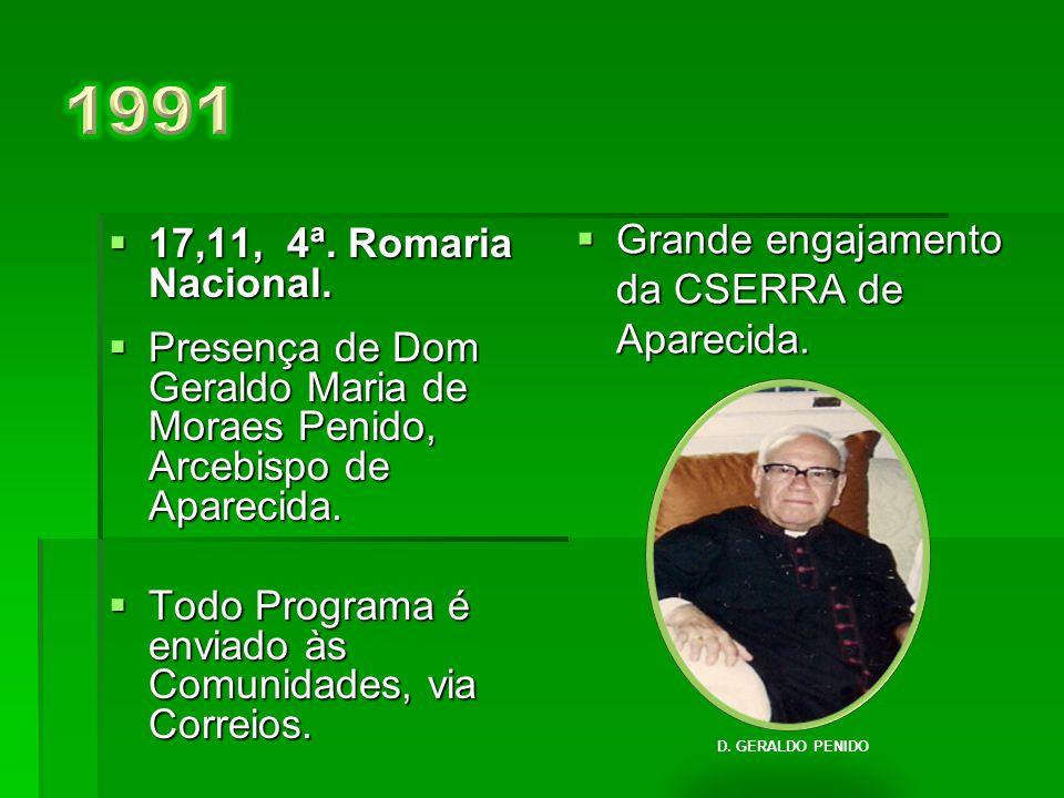 1991 Grande engajamento da CSERRA de Aparecida.