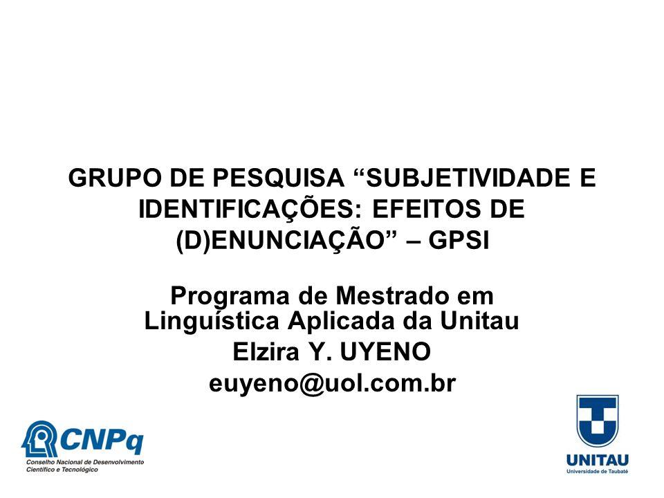Programa de Mestrado em Linguística Aplicada da Unitau