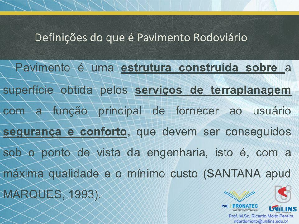 Definições do que é Pavimento Rodoviário