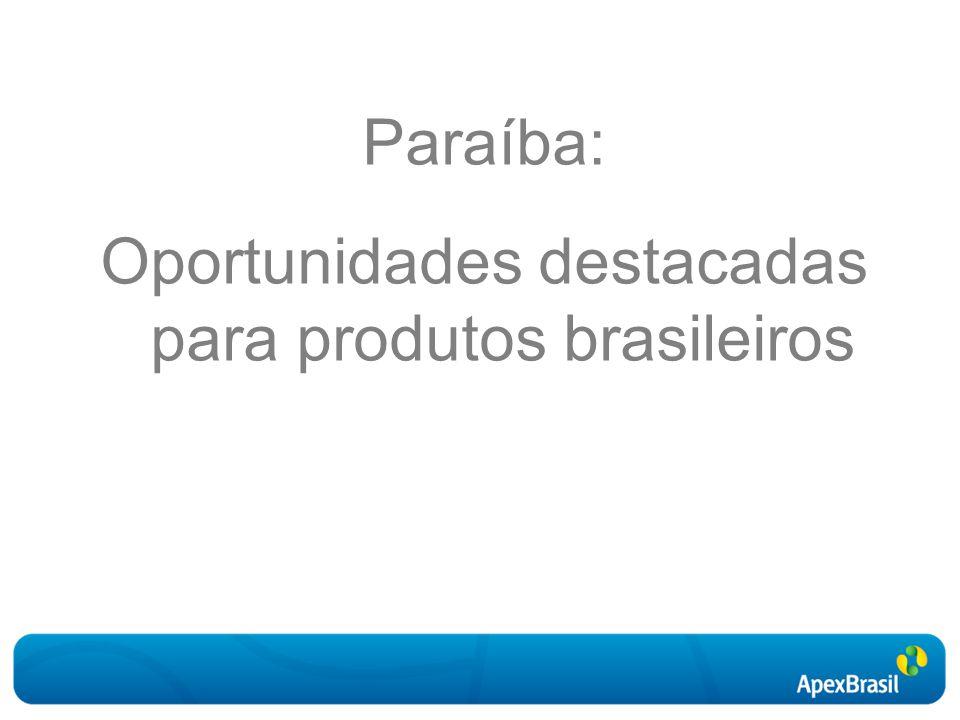 Paraíba: Oportunidades destacadas para produtos brasileiros