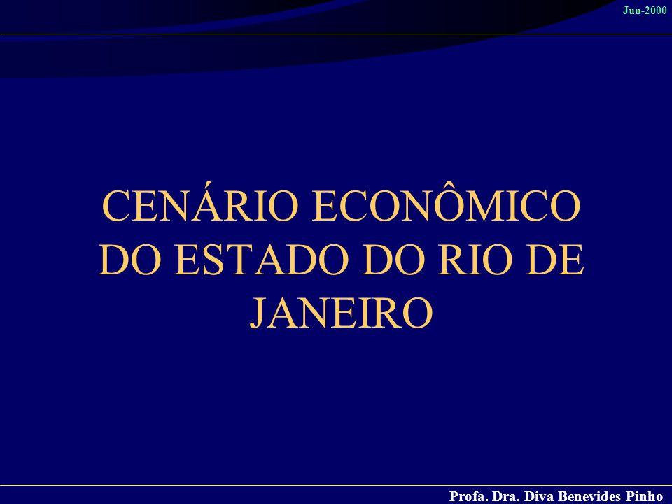 CENÁRIO ECONÔMICO DO ESTADO DO RIO DE JANEIRO
